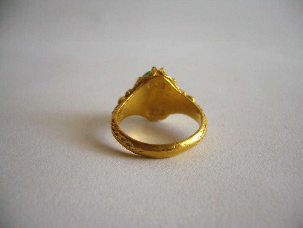 asian gold and jade ring at 1stdibs