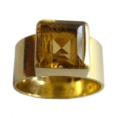 WIWEN NILSSON Gold and Citrine Ring