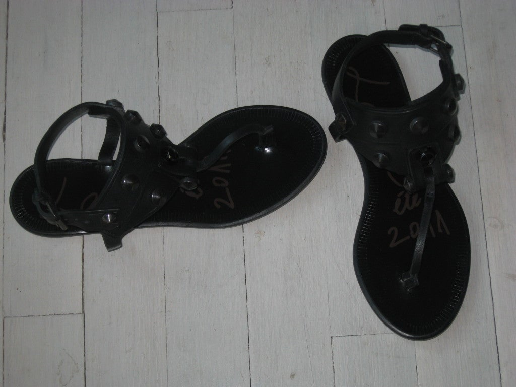 Black Lanvin High Style New Sandals, 2011  For Sale