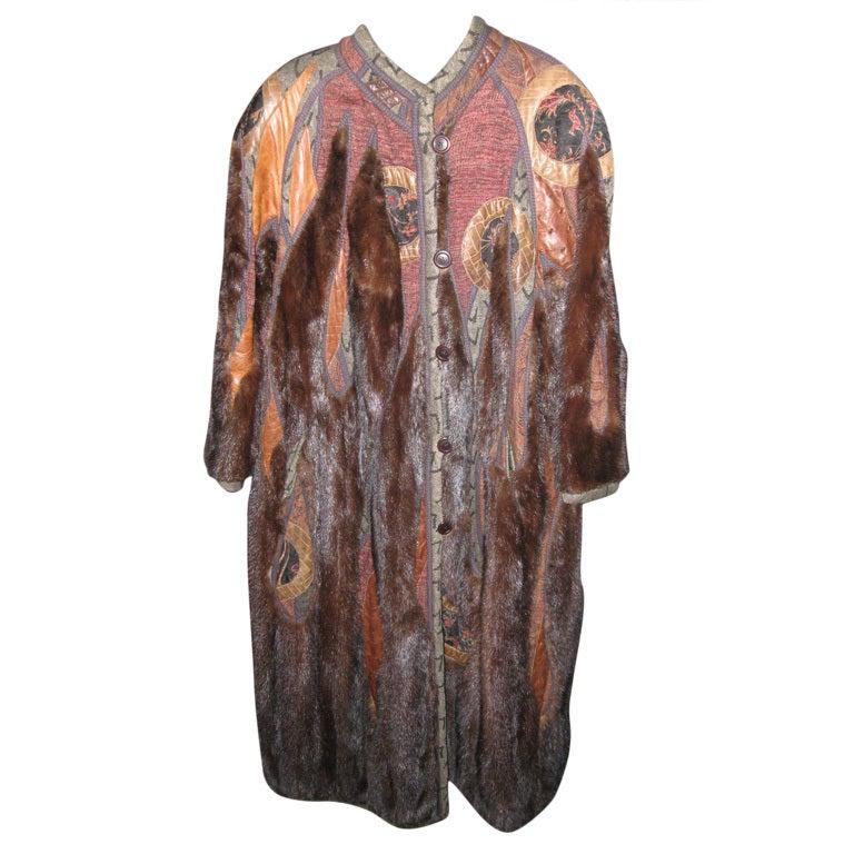 Koos Couture Unique Mink Fur Coat
