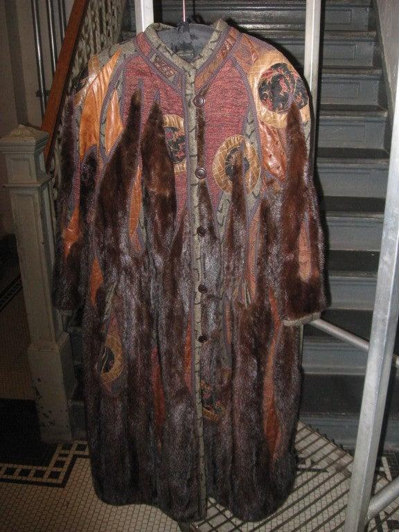 Women's Koos Couture Unique Mink Fur Coat For Sale