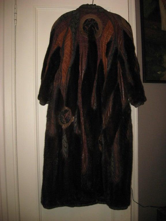 Koos Couture Unique Mink Fur Coat For Sale 1