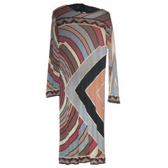 Emilio Pucci 1060's Silk Jersey Maxi Dress