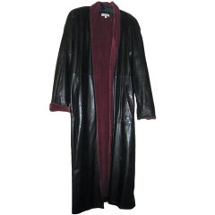 Gianni Versace Vintage Leather Coat