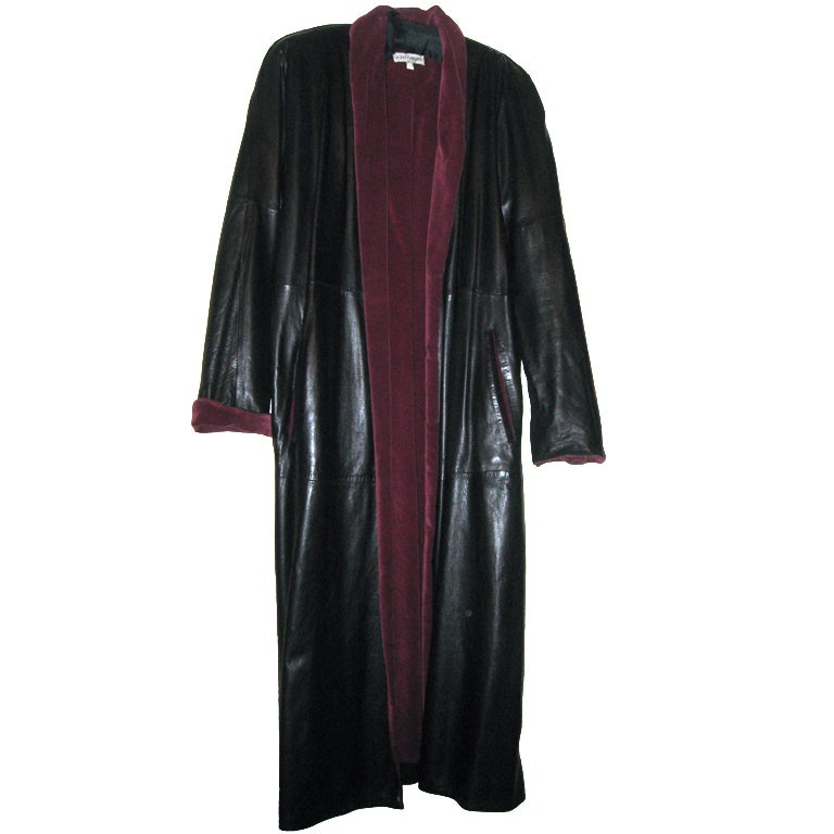 GIANNI VERSACE Vintage Leater Coat 1