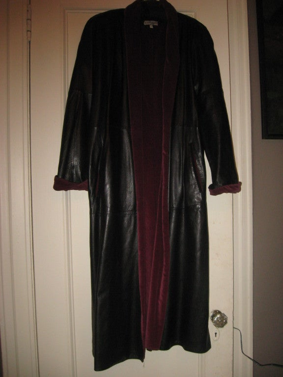 GIANNI VERSACE Vintage Leater Coat 3