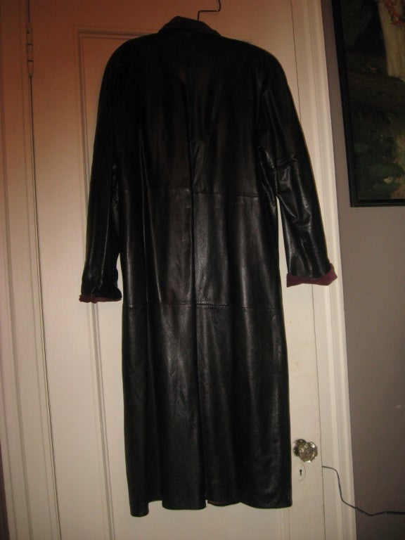 GIANNI VERSACE Vintage Leater Coat 4