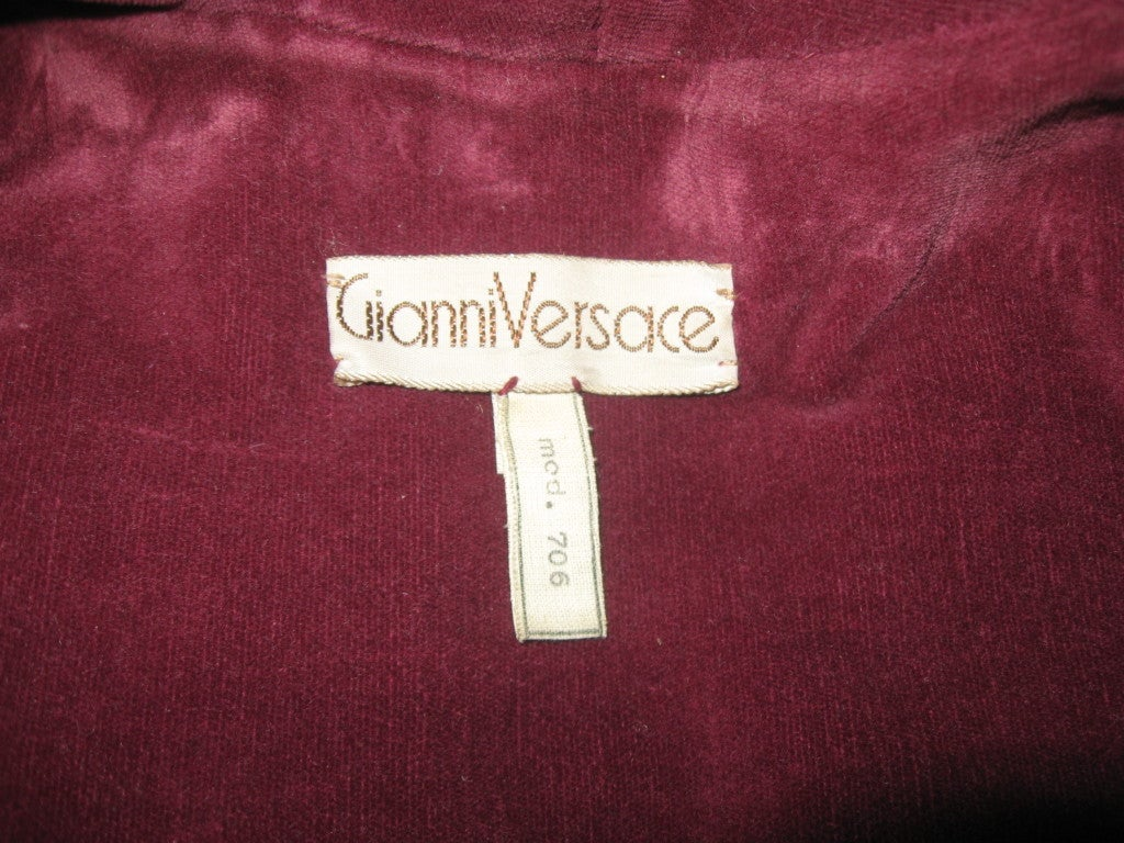 GIANNI VERSACE Vintage Leater Coat 5