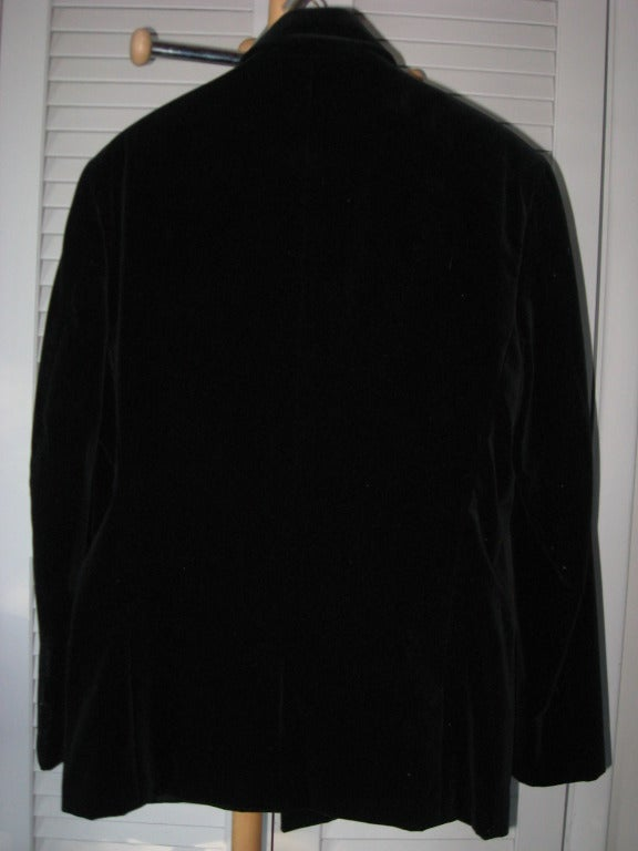 Black Thierry Mugler Men's Avant-garde Velvet Evening Suit For Sale