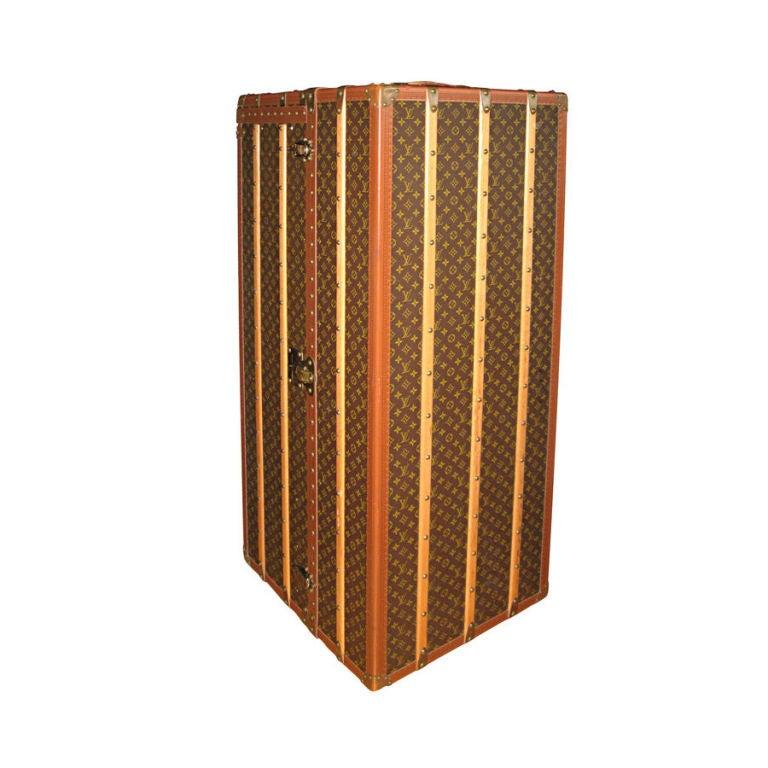 "Louis Vuitton Rare 56"" Wardrobe Steamer Trunk For Sale"