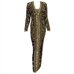 Naeem Khan beaded evening gown