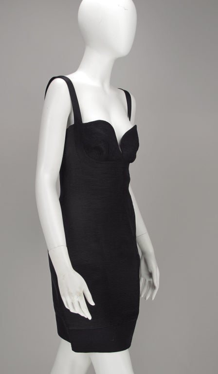 Gianni Versace Couture black laced back corset dress, 1990s For Sale 3
