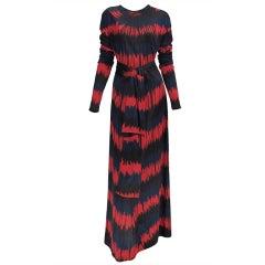 1977 Roberta di Camerino optical print dress