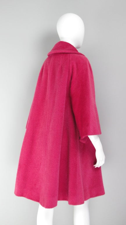 1960s Lilli Ann raspberry swing coat image 6