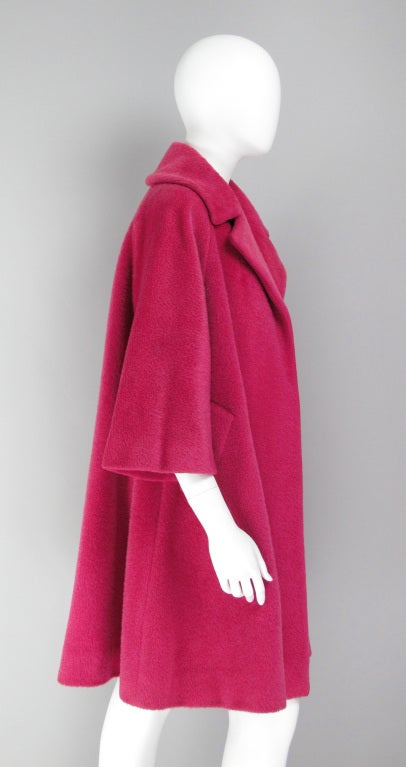 1960s Lilli Ann raspberry swing coat image 7