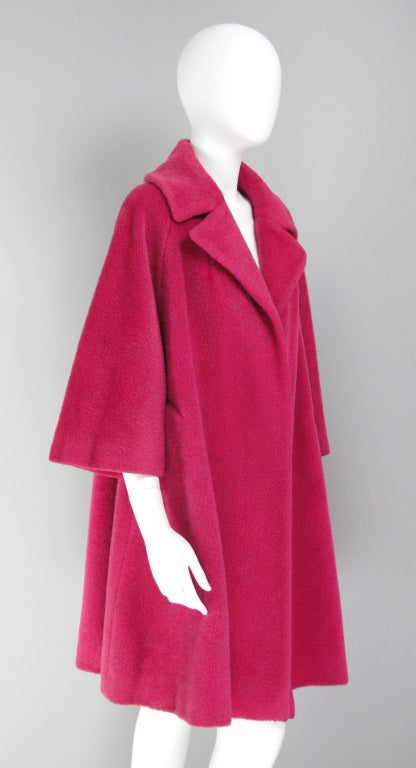 1960s Lilli Ann raspberry swing coat image 8