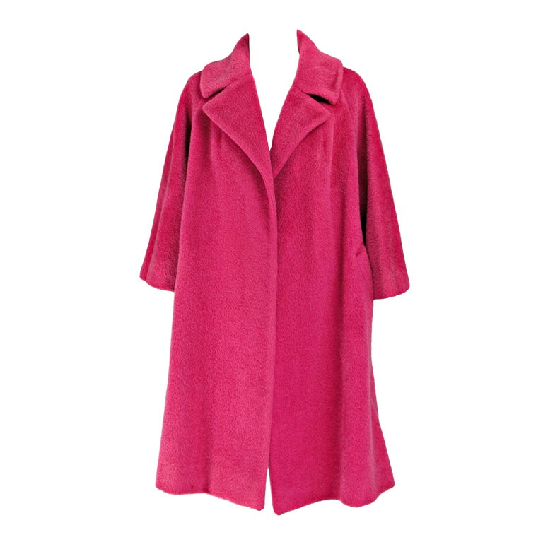 1960s Lilli Ann raspberry swing coat