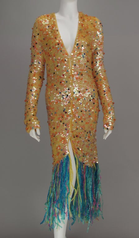 Enrico Coveri confetti mermaid coat 1980s 2