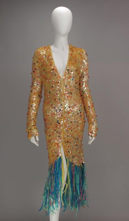 Enrico Coveri confetti mermaid coat 1980s 3