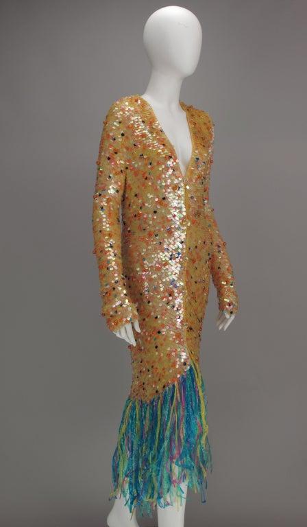 Women's Enrico Coveri confetti mermaid coat 1980s For Sale