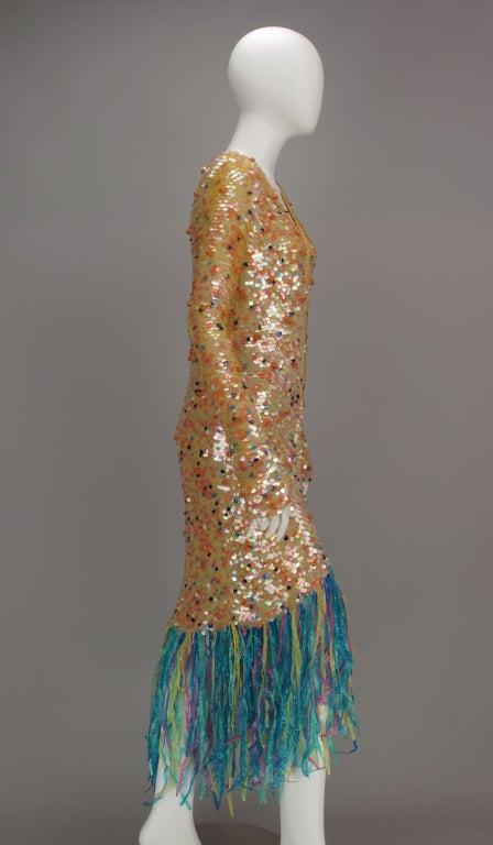 Enrico Coveri confetti mermaid coat 1980s 5