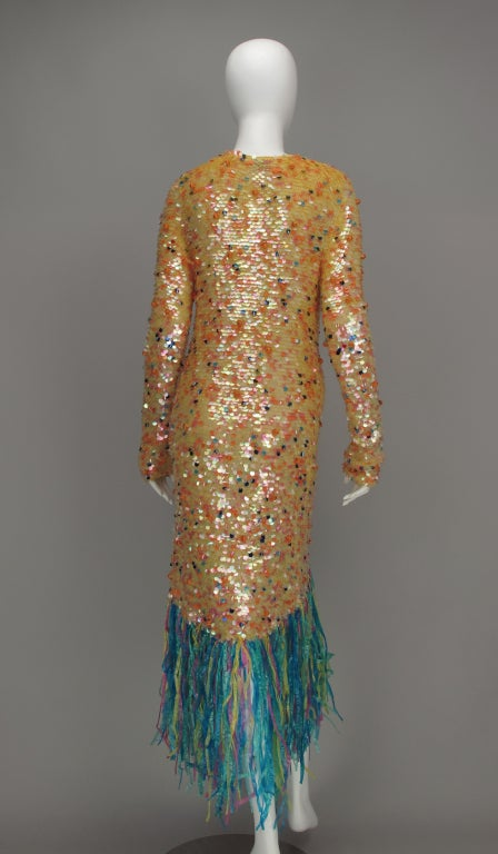 Enrico Coveri confetti mermaid coat 1980s For Sale 2