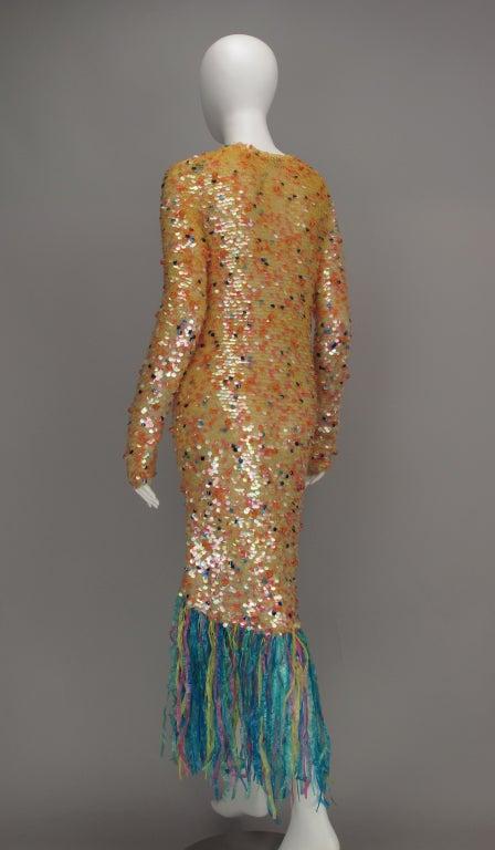 Enrico Coveri confetti mermaid coat 1980s For Sale 3