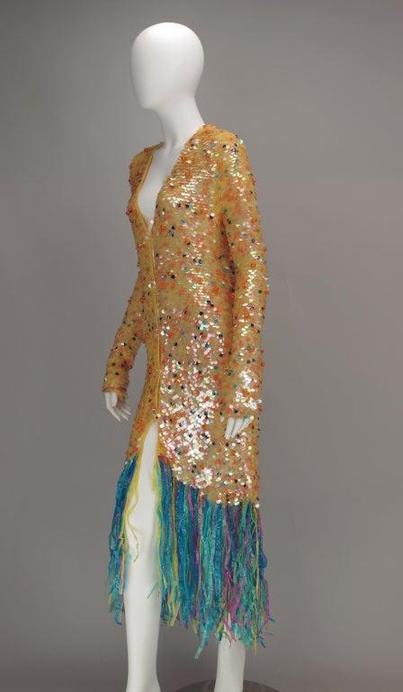 Enrico Coveri confetti mermaid coat 1980s For Sale 4