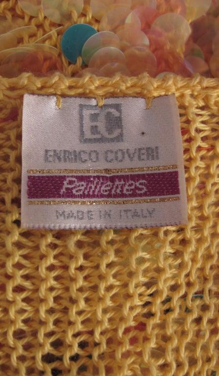 Enrico Coveri confetti mermaid coat 1980s For Sale 5
