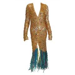 Enrico Coveri confetti mermaid coat 1980s