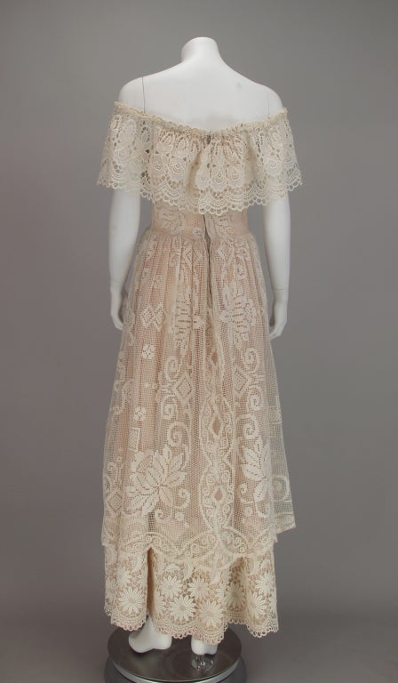 1960s boheimian lace luxe wedding dress 5