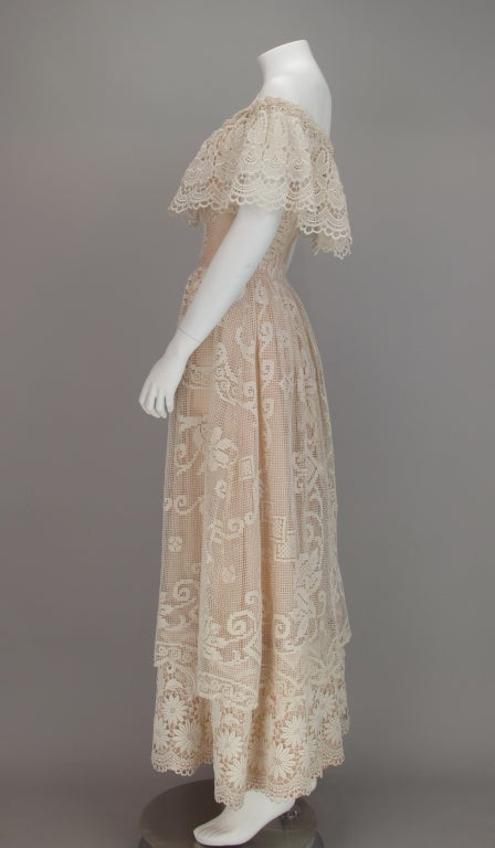 1960s boheimian lace luxe wedding dress 6