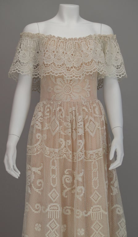 1960s boheimian lace luxe wedding dress 8