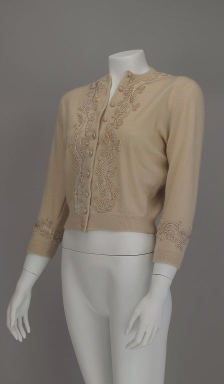 1950s Abercrombie And Fitch Cream Cashmere Sweater At 1stdibs