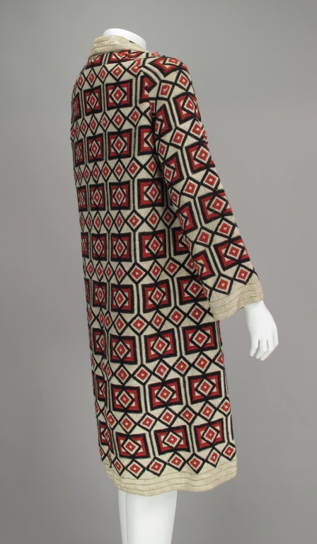 Women's 1920s  Art Deco woven wool coat For Sale