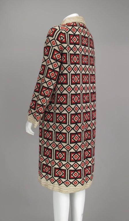 1920s  Art Deco woven wool coat For Sale 1