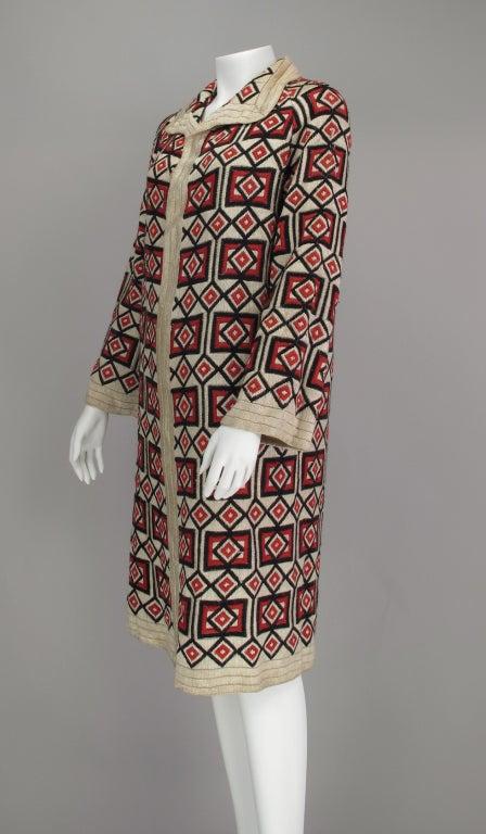 1920s  Art Deco woven wool coat For Sale 3