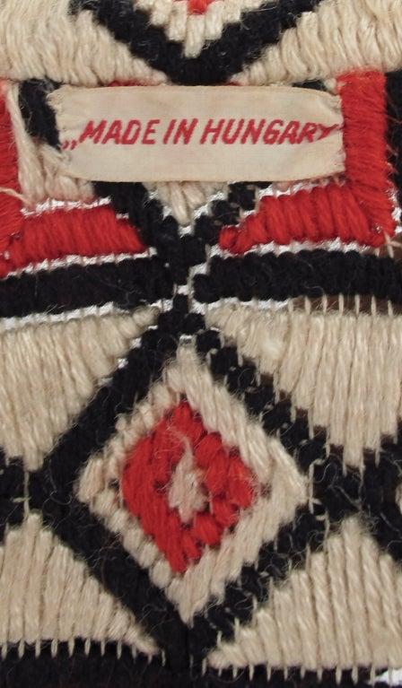 1920s  Art Deco woven wool coat For Sale 4