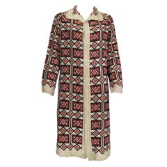 1920s  Art Deco woven wool coat