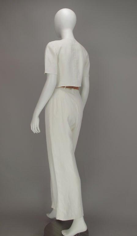 Bill Blass 30s inspired linen beach PJs For Sale 1
