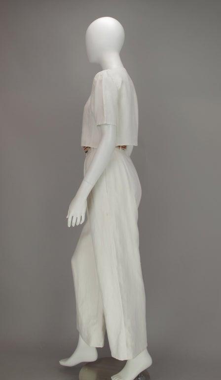 Bill Blass 30s inspired linen beach PJs For Sale 2