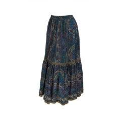 Yves St Laurent rive gauche paisley pesant skirt 1960s YSL