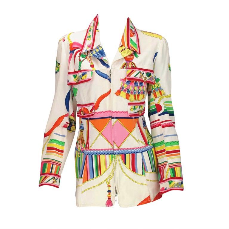 1970s Leonard Paris bright summer jacket
