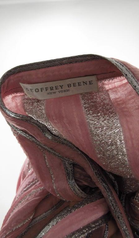 1970s Geoffrey Beene 2pc set in pink & silver lurex 9