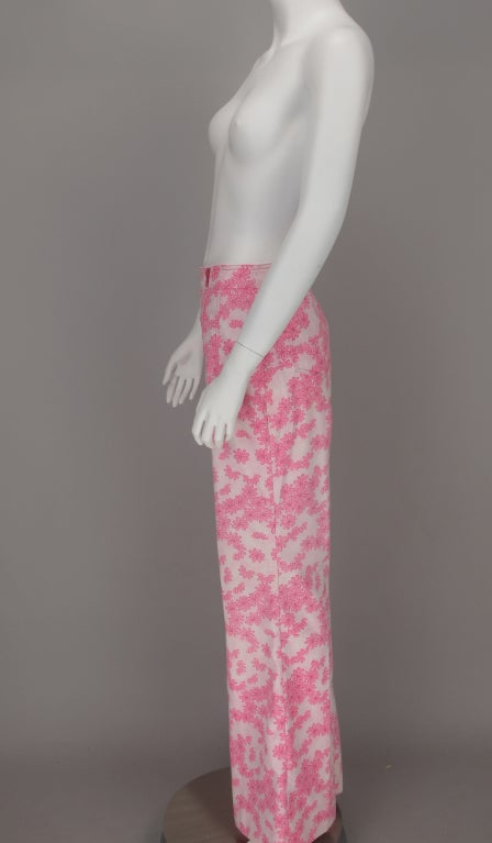 1960s Lilly Pulitzer floral bell bottoms For Sale 4