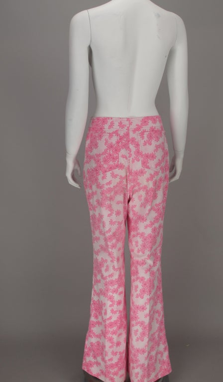 1960s Lilly Pulitzer floral bell bottoms For Sale 6