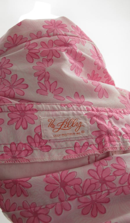 1960s Lilly Pulitzer floral bell bottoms For Sale 7