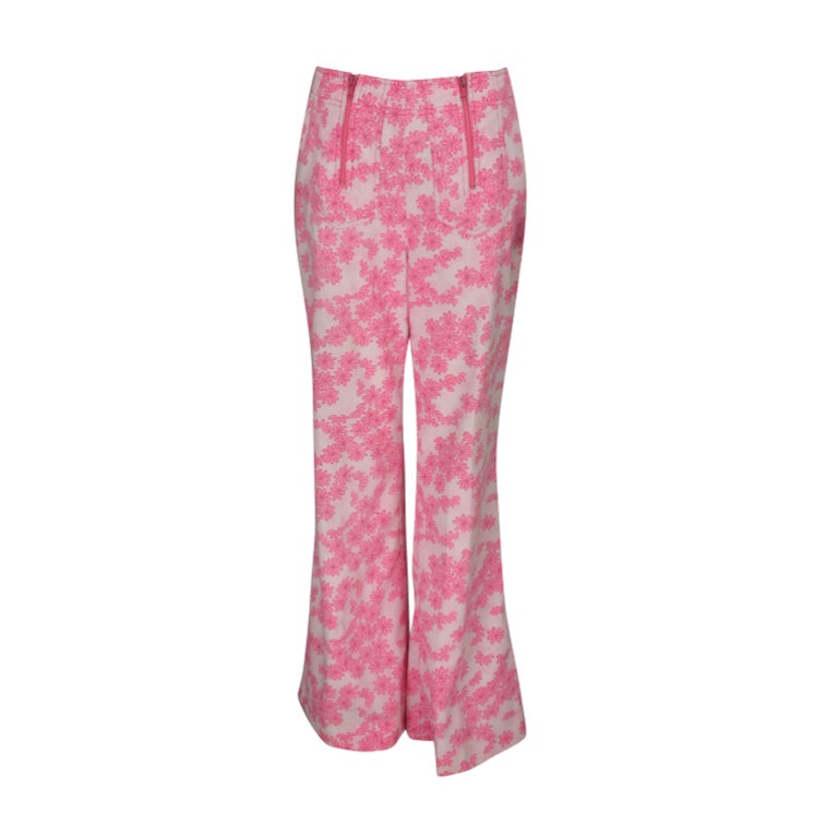 1960s Lilly Pulitzer floral bell bottoms For Sale