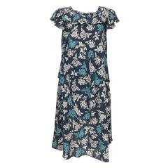 1970s Sonia Rykiel draped cotton print dress