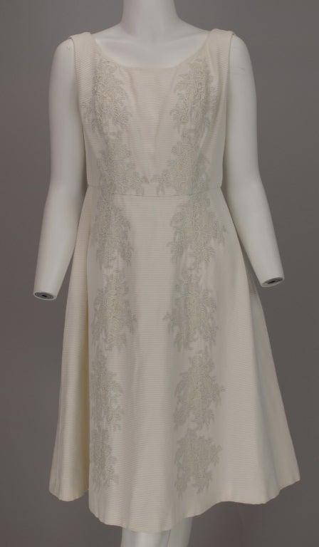 1960s Philip Hulitar lace applique cocktail dress 2